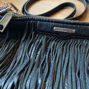 Rebecca Minkoff Black Fringe Cross over bag